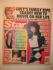 Star Magazine 2-2-1991. Randall Cunningham & Whitney Houston! Vanna White! Cher!