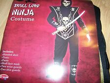 Size Small 6 Skull Lord Gold Ninja Halloween Costume 8 Pieces Fun World New