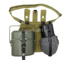 AUCTION SET WWII WW2 GERMANY KITS CANTEEN/STRAP MESS TIN CANVAS BAG POUCH KETTLE