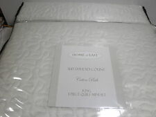 American Homes Textile Home at Last King Quilt & Shams Set - Ivory Swirl NEW