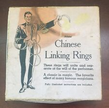 Vintage Adams Chinese Linking Ring Set of 8 with Box and Manual