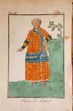 RUSSIA/ RUSIA. femme de Katchin.    Grabado original en color, 1788.