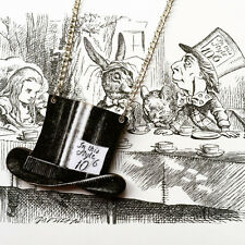 Alice In Wonderland Mad Hatter Top Hat Tea Party Necklace We're all mad here