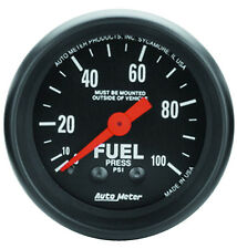 "Auto Meter Z-Series 0-100 Psi Mechanical Fuel Pressure Gauge 2 1/16"" (52mm)"