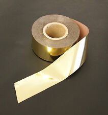 GOLD FOIL IDEAL FOR EMBOSSING, STAMPING & BLOCKING, 25 MM WIDE, 120 M ROLL