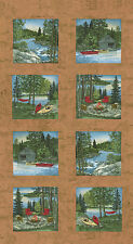 "MODA Quilt Panel ~ RIVER JOURNEY ~ by Holly Taylor (6680 19) Buckskin 24"" x 45"""