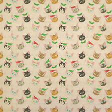 Christmas Cat Faces Kraft Present Gift Wrap Wrapping Paper