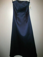 Jessica McClintock Royal Blue Long Dress Formal Wedding Strapless Size 6 NWT