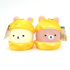 9cm Licensed Cartoon Rilakkuma Squishy Bread Scented Christmas Ballchain Kid Toy