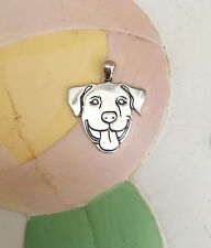 Smiling Pit Bull Sterling Silver Charm - New - FREE SHIPPING