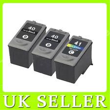 2x PG40 &1x CL41 Black & Colour Ink Cartridges for Canon Pixma MP140 MP150 MP160