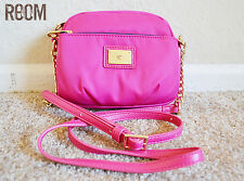 JUICY COUTURE MALIBU NYLON MINI CAMERA CROSSBODY BAG raspberry pink