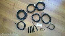 LAMBRETTA GP CABLES. BLACK NYLON LINED FRICTION FREE. COMPLETE SET & PARTS. NEW