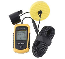 LCD 100m Fish Finder Fishing Sonar Radar Scanner Sensor Alarm Beam Transducer
