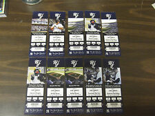 LOT OF (10) SCRANTON WILKES-BARRE YANKEES 2008 FULL TICKETS