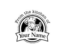 Personalized Custom Made Handle Mounted Rubber Stamp From The Kitchen K5