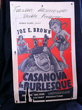 CASANOVA IN BURLESQUE 1943 ORIGINAL MOVIE POSTER 14X22