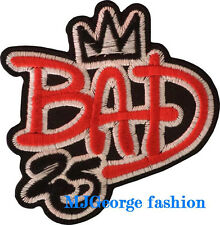 "Michael Jackson  ""BAD 25"" patch, embroidery"