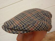 Men's Flat Cap Hat / Bates Hatter / London / Wool Tweed / Size 56, 6-7/8