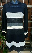 NEW WITH TAGS Auth Dolce & Gabbana Long Sleeve Wool Blend & Lace Dress Size 46
