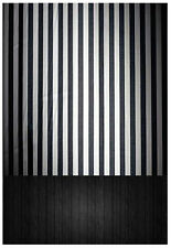 Black And White Tight Stripes Floor Backgrounds 5x7ft Vinyl Photography Backdrop