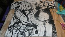 2XL  Jack Skellington and Gang from Nightmare Before Christmas Black & White Dis