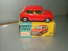 Corgi toys 225 austin seven. orange rouge near mint avec boîte d'origine