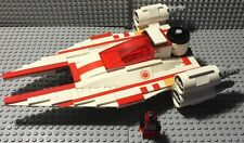 Custom Lego Star Wars Red/White U-WIng Small Fighter design with Pilot Cmdr.