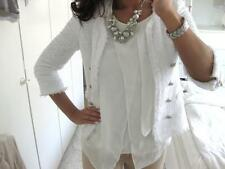ZARA WHITE FANTASY BUTTONS BLAZER JACKET MUST HAVE EXTRA SMALL XS NEW UK 6-8