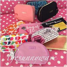 NEW LOT/SET OF 10 COSMETIC TRAVEL GIFT MAKEUP BAGS ESTEE LAUDER CLINIQUE LANCOME