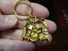(M-315-C) Ludwig DRUM SET KEY CHAIN 24k GOLD plate RING keychain love drums