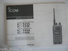 ICOM-T21A/E-T41A/E (GENUINE INSTRUCTION MANUAL ONLY).......RADIO_TRADER_IRELAND.