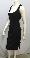VALENTINO ROMA DRESS COCKTAIL STYLE BLACK 3 SIDE BOWS SIZE 48 12 FITS 10/12
