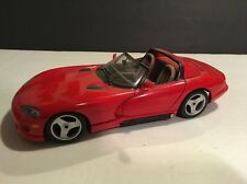 BURAGO 1:18 Scale DODGE VIPER RED RT/10  ITALY MADE LOOSE