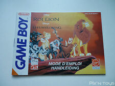 ►►►► NINTENDO GAME BOY / Notice, Instructions / Le Roi Lion [ DMG-ALNP-NFAH-1 ]