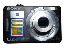 Black Sony Cybershot DSC-W55 7.2MP Pixel Digital Camera, Cable, Memory Card