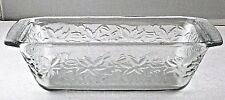 Princess House Fantasia Crystal Loaf Pan Ovenware Frosted Bottom 537 VTG