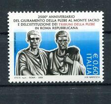 Italia 2008 2500 anniversario istutuzione Tribuno plebe Roma repubblicana MNH