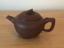 antique chinese yixing teapot with signed lid and seal mark to base