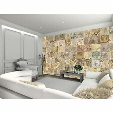 CREATIVE COLLAGE VINTAGE MAPS DESIGNER WALL MURAL - 64 PIECE WALLPAPER NEW