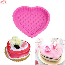 Heart Shape DIY Silicone Mold Fondant Cake Baking Tool Cupcake Chocolate Mould