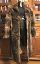 Vintage Genuine Real Fur Coat / Jacket Ladies Long Length Mixed Brown Colouring