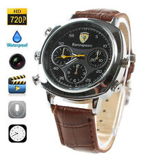 HD 1280 x 720 Mini DV Spy 720P Camera Watch Built-in 8GB Memory 30fps