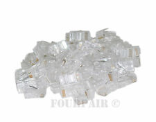 100 Pack - RJ45 8P8C CAT5e Crimp-On Connector Plug Ends For Solid Ethernet Cable