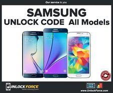 Unlock Code Samsung Galaxy S7 S6 S5 S4 S3 Note 5 4 2 3 Neo Core etc Telus Koodo