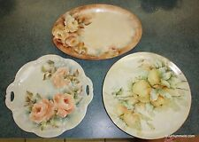 Lot of 3 Vintage Bavaria Tirschenreuth LARGE Collectible Plates & Platter - GIFT