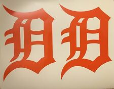 """Detroit Tigers Old English D 2 Pack- Orange Vinyl Decal 4""""x 5.75""""*FREE SHIPPING*"""