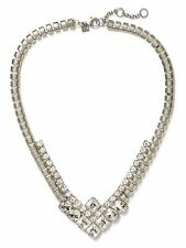 Banana Republic Silver Square Bubble Link V Necklace NIB $79.50