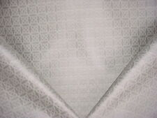 3-1/4y THIBAUT WOVEN SILVER / PLATINUM CELTIC MEDALLION SILK UPHOLSTERY FABRIC