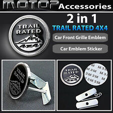 Trail Rated 4x4 3D Metal Racing Front Grill Grille Badge Emblem Decal Sticker